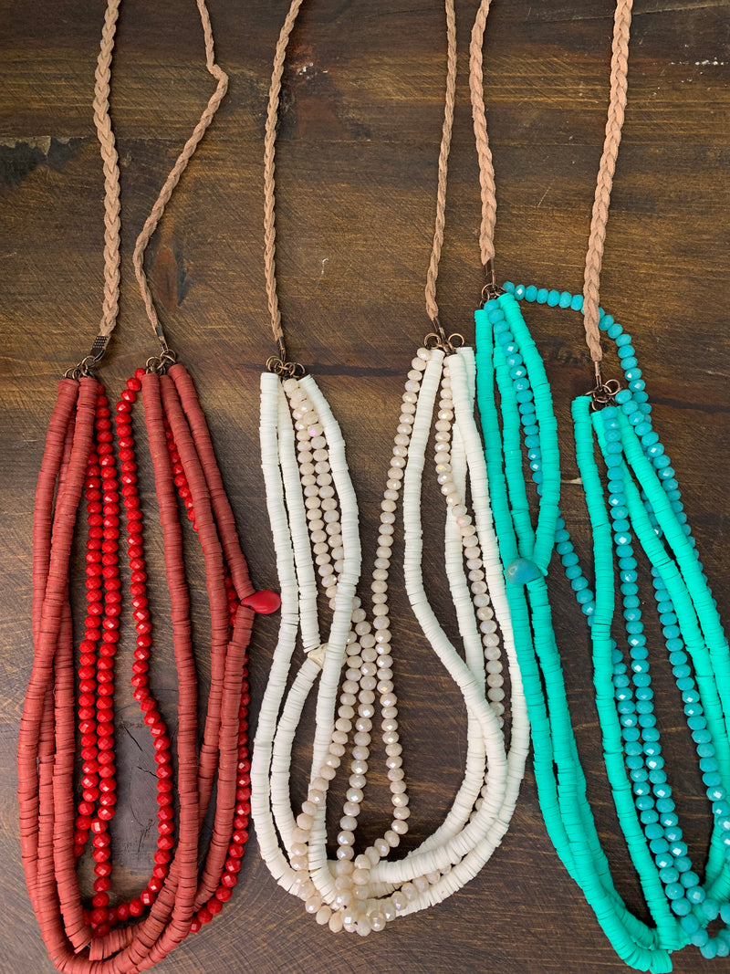 Braided Multi Strand Necklace