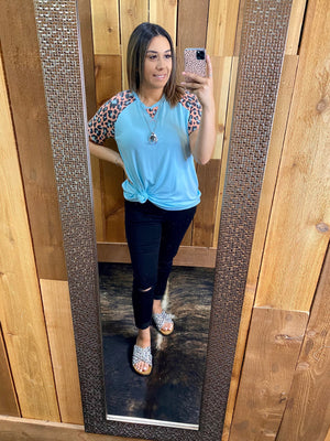 Leopard and Mint Top