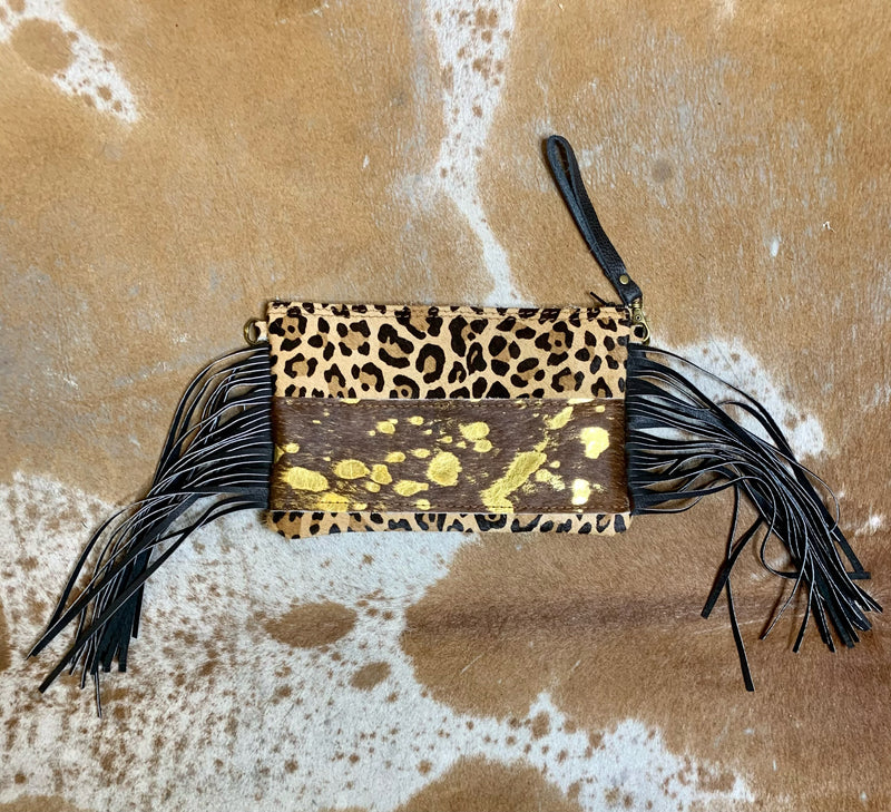Leopard & Metallic Handbag