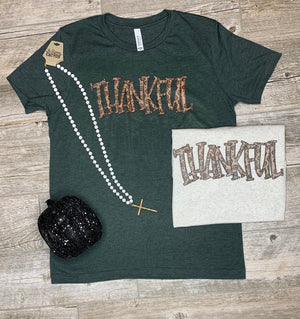 Leopard Thankful T-Shirt