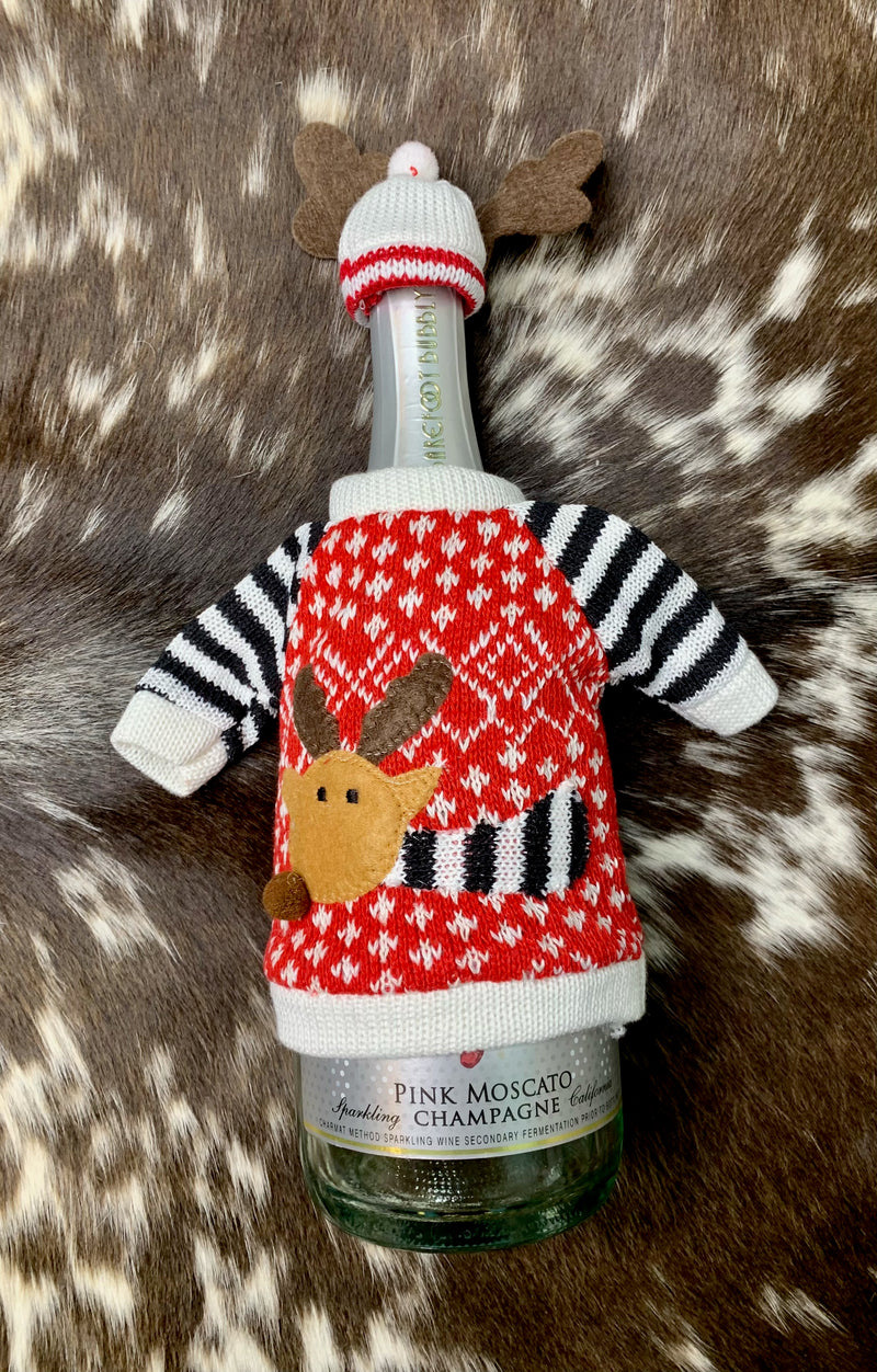 Reindeer Bottle Sweater