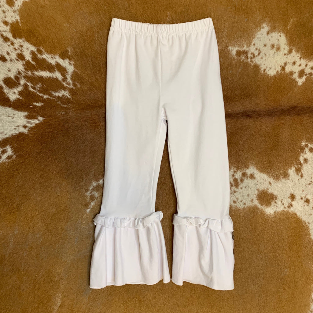 Kid White Bell Bottoms