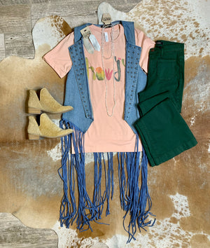Denim Love Vest