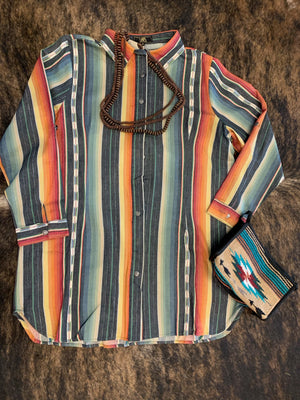 Serape Button-Up