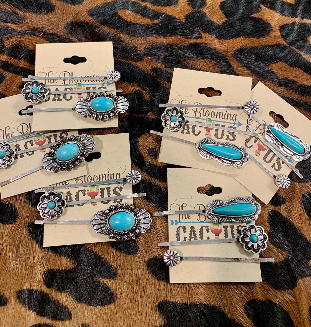 Turquoise Barrettes