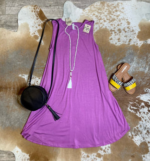 Light Purple Pocket dress