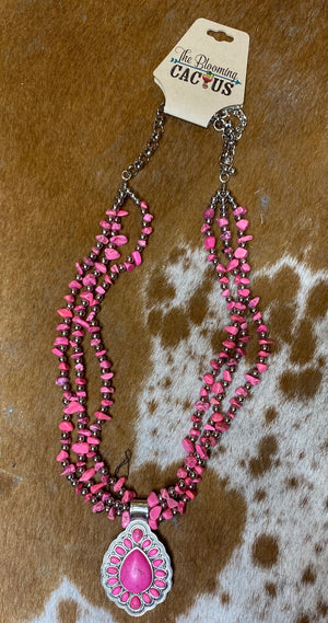 Pink out Stone Necklace