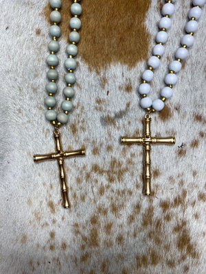 Cross Beaded Necklace