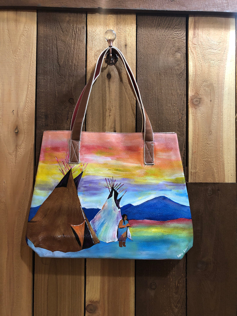 Hand Painted Indian Skies Purse