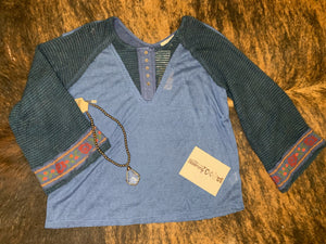 Denim Blue Belle Top