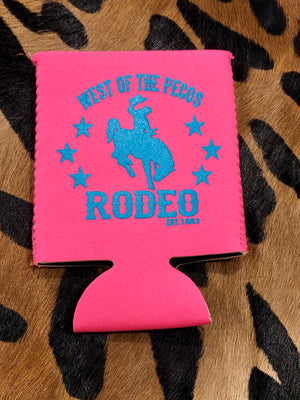 PINK West of the Pecos Rodeo Neoprene Can Wrap