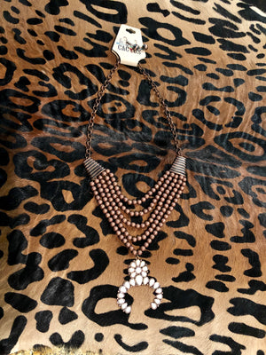 Multi Strand Squash Necklace & Earring Set
