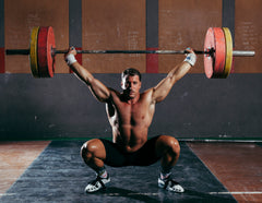 Man olympic lifting