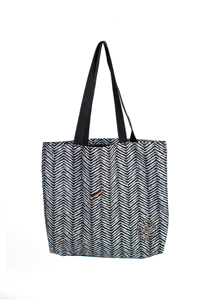 Herringbone Tote Bag