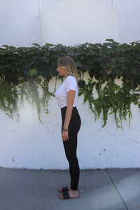 Basic Black Classic Fit Leggings