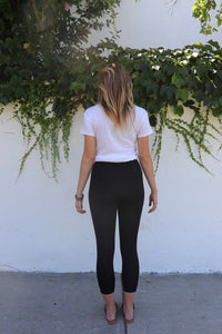 Basic Black 7/8 Leggings