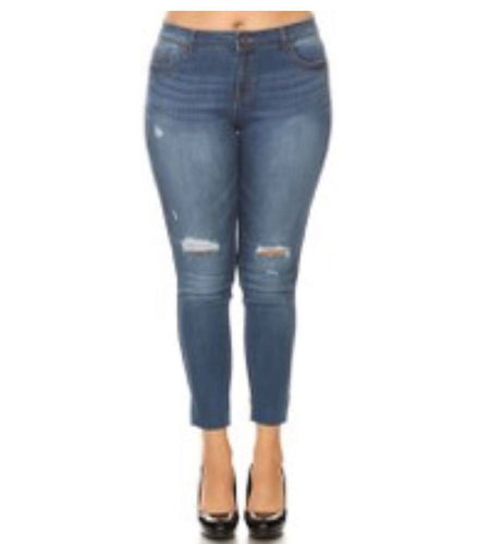 Plus Size Ankle Skinny Jeans