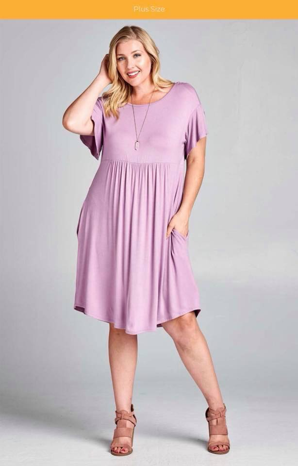 Purple Dress with Crisscross Back Detail