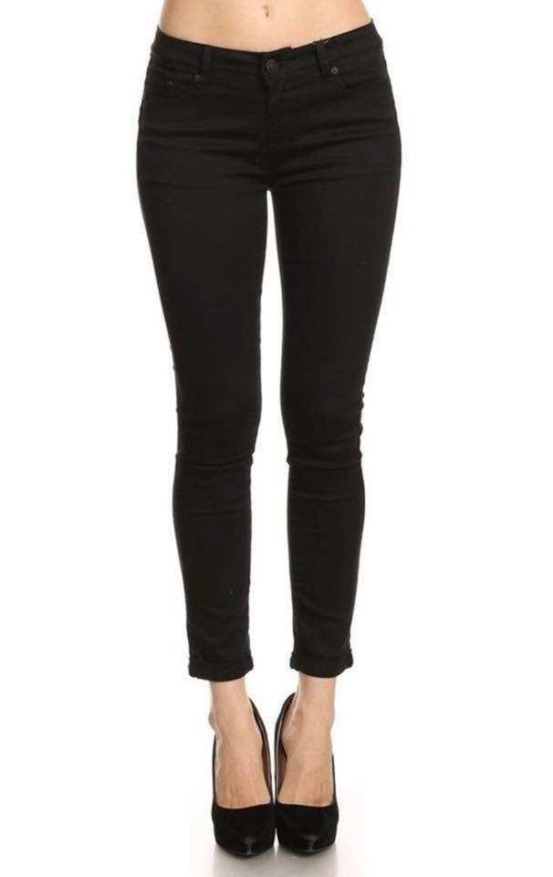 Black Ankle Length Jean