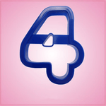 Blue Number 4 Cookie Cutter