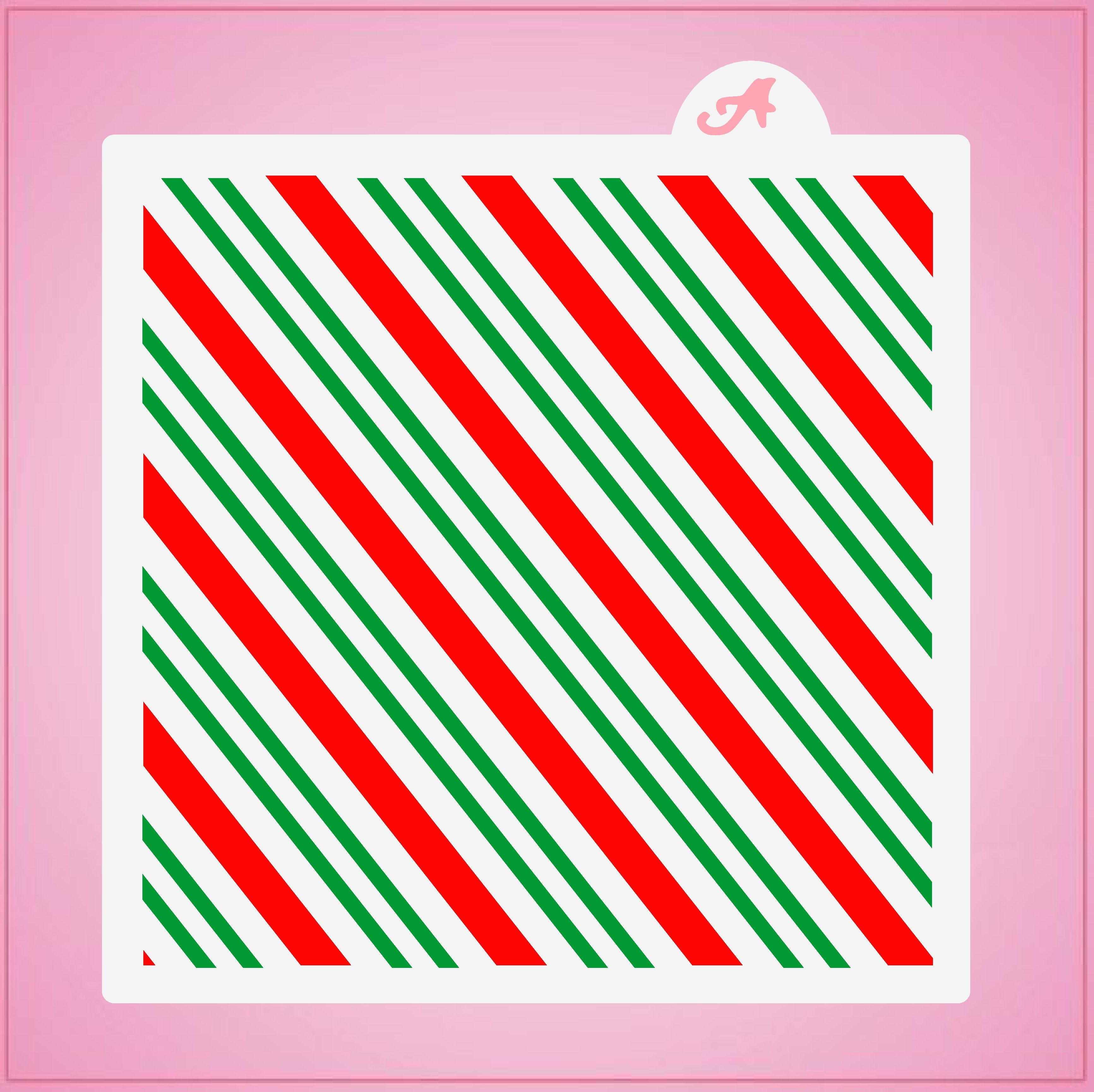 Candy Cane Stripes Stencil Set