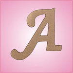 Cursive Letter A Cookie Cutter