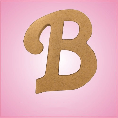 Cursive Letter B Cookie Cutter