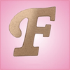 Cursive Letter F Cookie Cutter