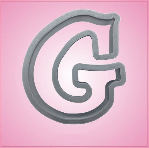 Cursive Letter G Cookie Cutter