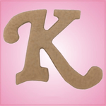 Cursive Letter K Cookie Cutter