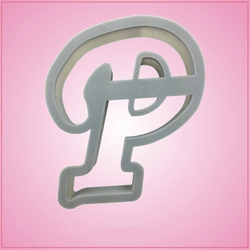 Cursive letter p cookie cutter cheap cookie cutters for Cookie letter press