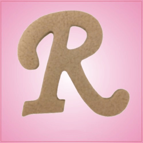 Cursive Letter R Cookie Cutter