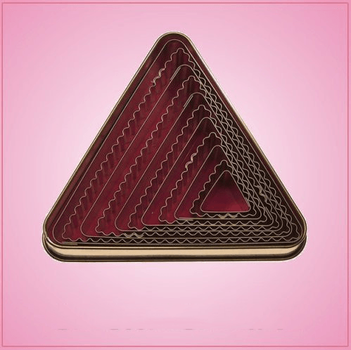 Fluted Triangle Cookie Cutter Set
