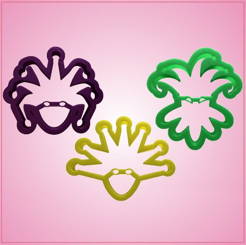 Full Face Mardi Gras Cookie Cutter Set