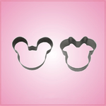Mini Mickey and Minnie Mouse Cookie Cutter Set