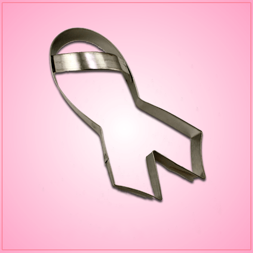 Pink Ribbon Cookie Cutter with Handle