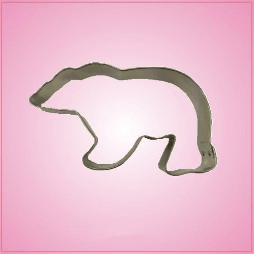 Tin Plated Polar Bear Cookie Cutter Int'l Shipping