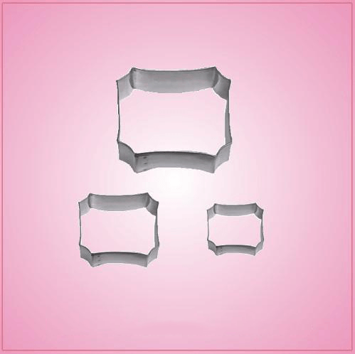Rectangular Plaque Cookie Cutter Set