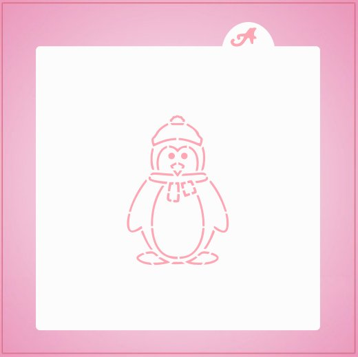 Winter Penguin PYO Stencil