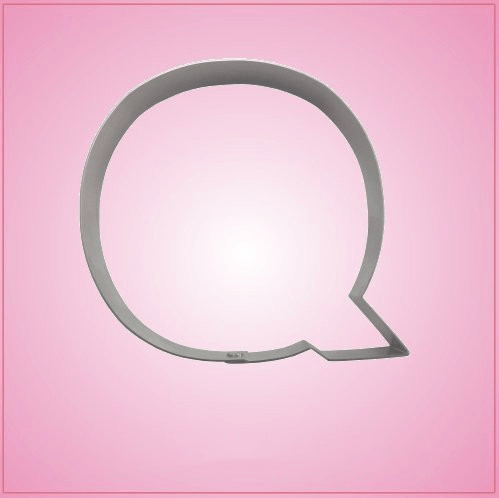 Big Letter Q Cookie Cutter