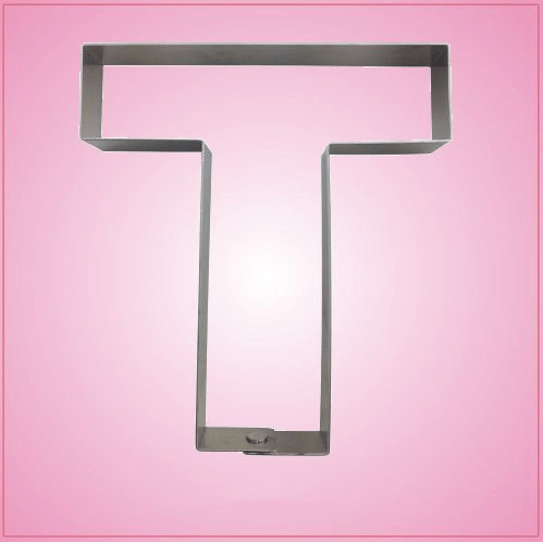 Big Letter T Cookie Cutter
