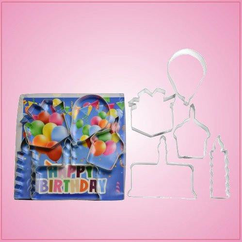 Birthday Party Cookie Cutter Set