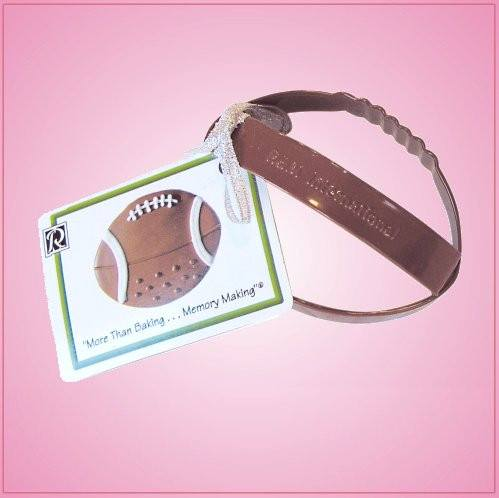 Brown Football Cookie Cutter With Handle