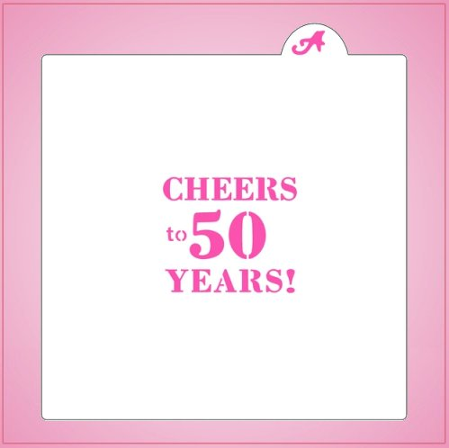 Cheers To 50 Years Stencil