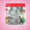 Christmas 4 Piece Cookie Cutter Set