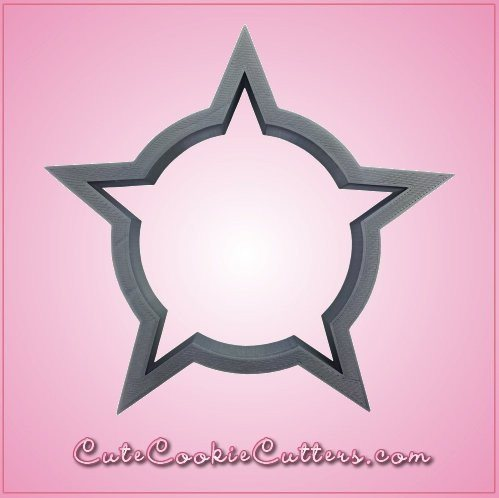 Circle In Star Badge Cookie Cutter