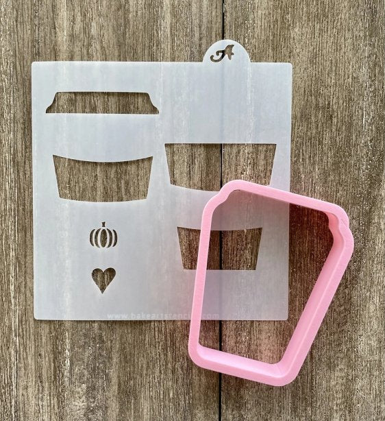 Coffee Love Cookie Cutter With Stencil