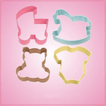 Colorful Baby Cookie Cutter Set
