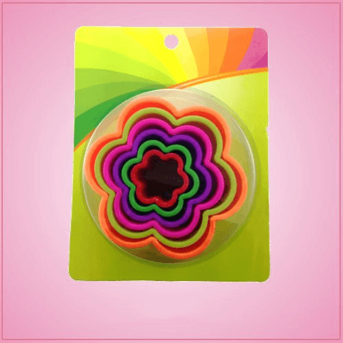 Colorful Daisy Cookie Cutter Set
