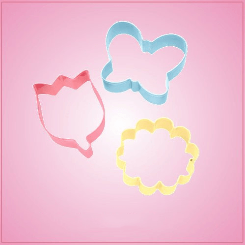 Colorful Flower Cookie Cutter Set